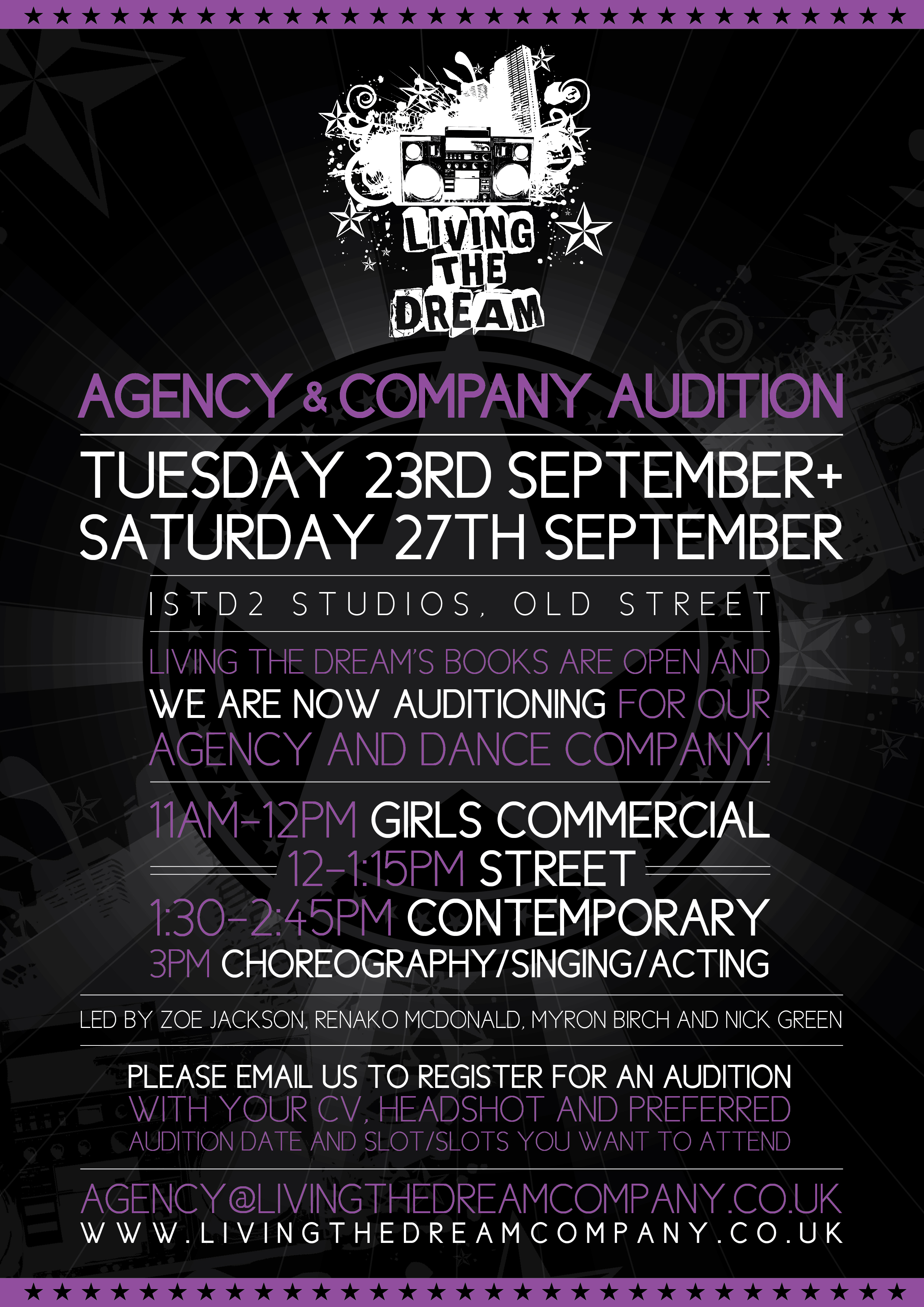 Talent Agency Professional Auditions